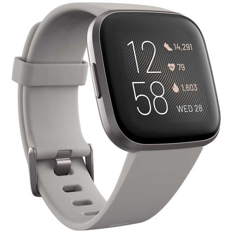 FITBIT Fitbit 新作からSALEアイテム等お得な商品 満載 Versa 2 Alexa搭載 スマートウォッチ Sandstone Iron L 激安 FB507GYSR-FRCJK Mist サイズ S グレー