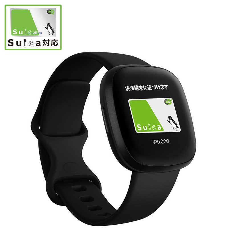 セットアップ FITBIT Fitbit Versa3 GPS搭載 スマートウォッチ S サイズ FB511BKBK-FRCJK 結婚祝い ブラック L