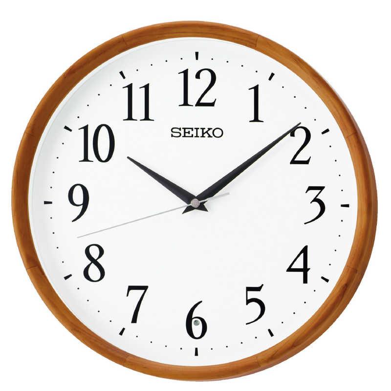 セイコー 掛け時計 定番から日本未入荷 スタンダード 茶木地 KX264B 発売モデル