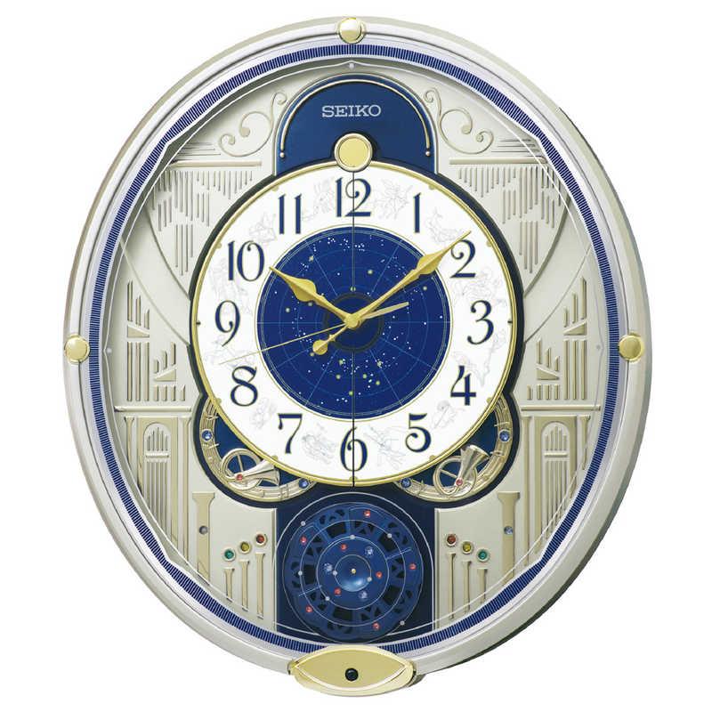 セイコー からくり時計 ウェーブシンフォニー RE582G 薄金色パール 100%品質保証! 超美品再入荷品質至上