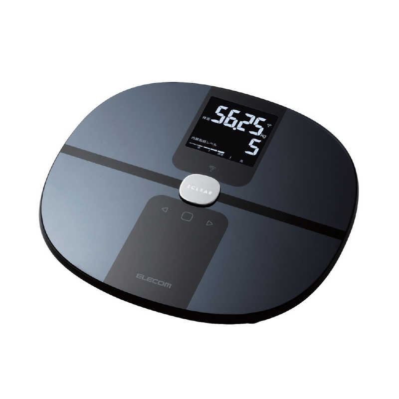 至上 エレコム ELECOM Wi-Fi通信機能搭載エクリア体組成計 安い スマホ管理機能有 ブラック HCS-WFS01BK