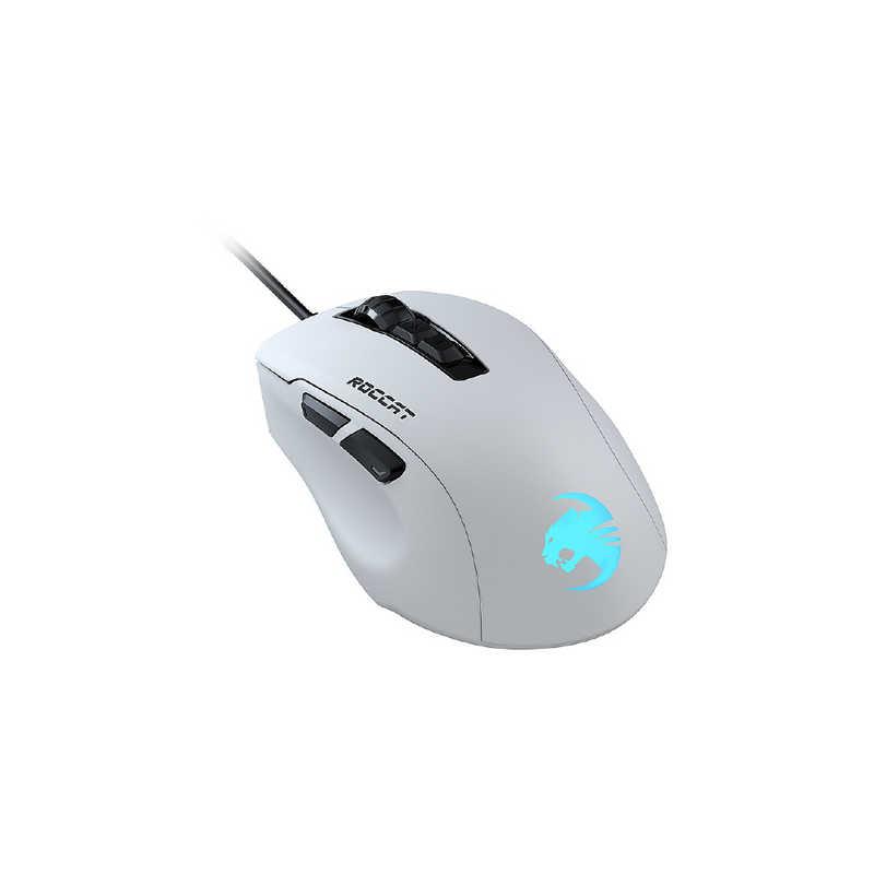 ROCCAT セール開催中最短即日発送 ゲーミングマウス KONE PURE ULTRA 光学式 注目ブランド 有線 ROC-11-731 ホワイト USB 9ボタン