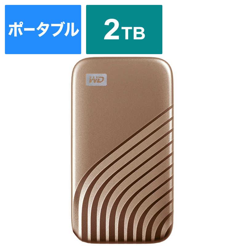 WESTERN DIGITAL 外付けSSD USB-C+USB-A接続 My Passport SSD 2020 Hi-Speed WDBAGF0020BGD-JESN
