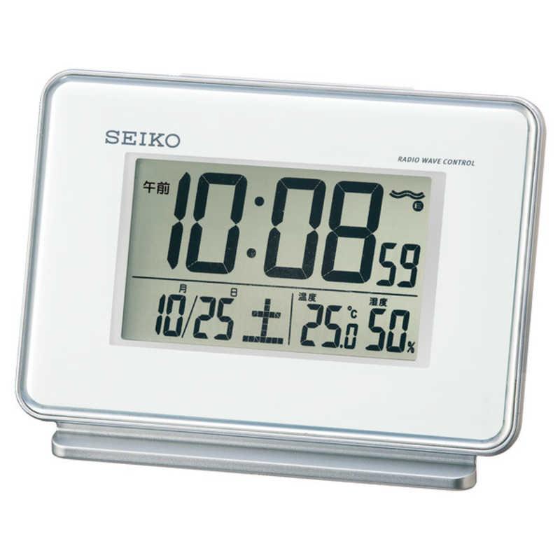 合計3 980円以上で送料無料 更に代引き手数料も無料 直送商品 SQ767W 評価 電波目覚まし時計 セイコー