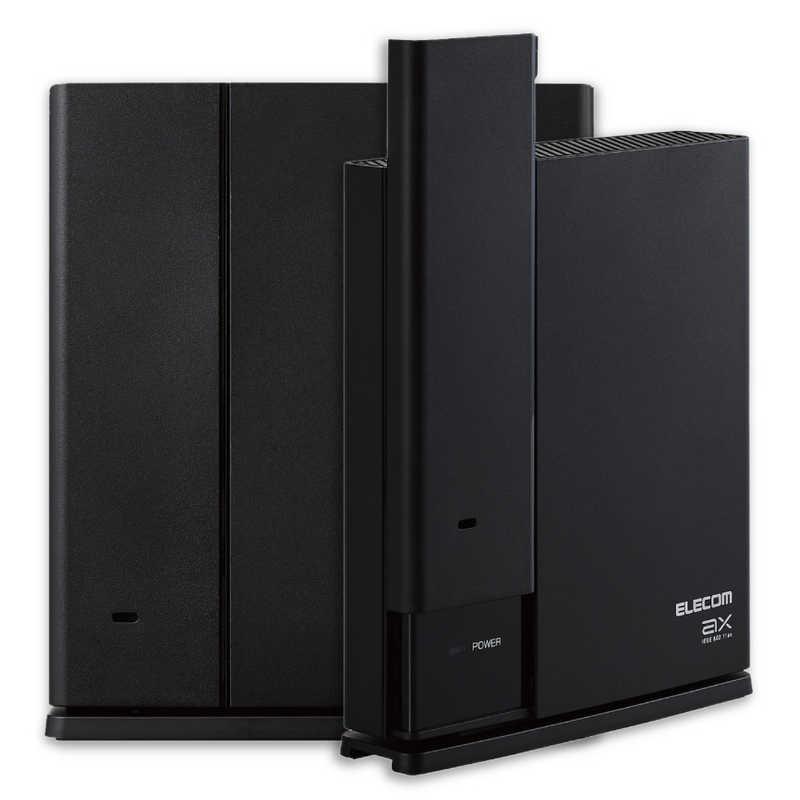 エレコム ELECOM WMC-2LX-B Wi-Fiルーター 新作多数 親機 出色 中継器セット 1201+574Mbps ブラック ax g Wi-Fi a n ac 6 b