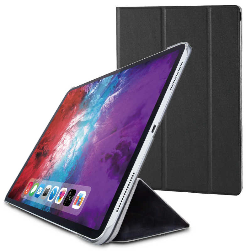 5☆大好評 合計3 980円以上で送料無料 更に代引き手数料も無料 店内全品対象 エレコム ELECOM iPad 2020 春モデル Lサイズ フラップケース 背面クリア 2アングル TB-A20PLWVBK ブラック ソフトレザー スリープ対応
