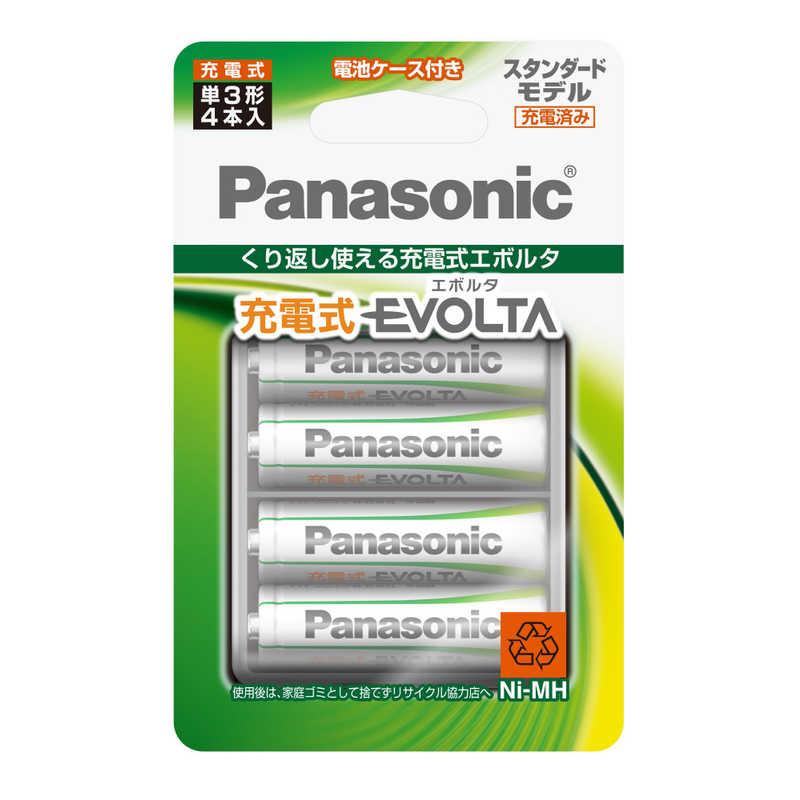 合計3 980円以上で送料無料 評価 更に代引き手数料も無料 パナソニック Panasonic 単3形ニッケル水素充電池 お洒落 4BC 4本 充電式EVOLTA BK-3MLE スタンダードモデル