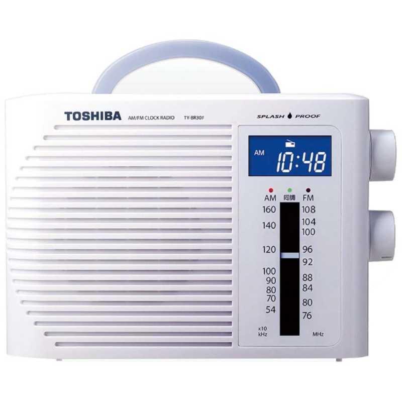 <title>日本製 東芝 TOSHIBA 防水ラジオ TY-BR30F W ホワイト</title>