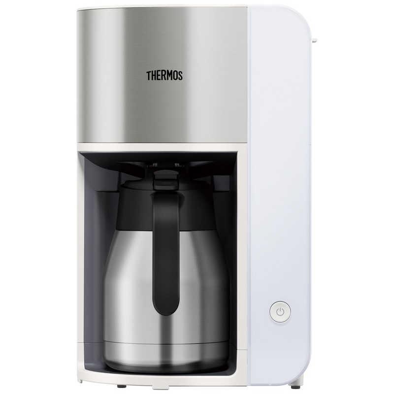 サーモス 真空断熱ポット コーヒーメーカー 100%品質保証! ECK1000WH 配送員設置送料無料 ホワイト
