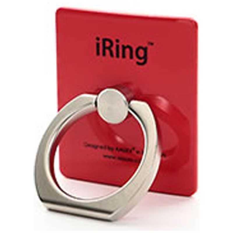 合計3 980円以上で送料無料 更に代引き手数料も無料 UNIQ 〔スマホリング〕 アイリング iRing 数量限定 税込 UMS-IRLEG01RD レッド
