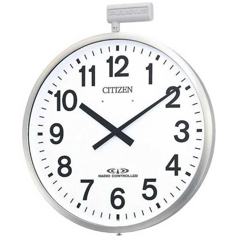 リズム時計 屋外用電波掛時計 ポールウェーブSF 爆安プライス 4MY611-N19 倉庫