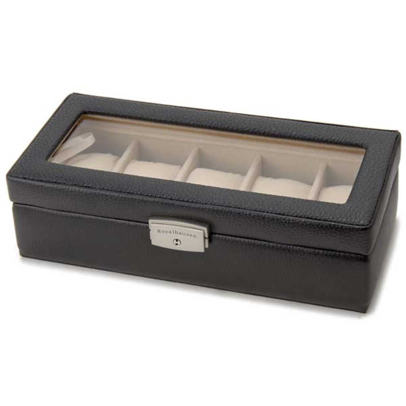 訳あり 合計3 980円以上で送料無料 更に代引き手数料も無料 ロイヤルハウゼン 牛革製時計ケース 189994 BK BK189994 5本用 安い 激安 プチプラ 高品質 189994