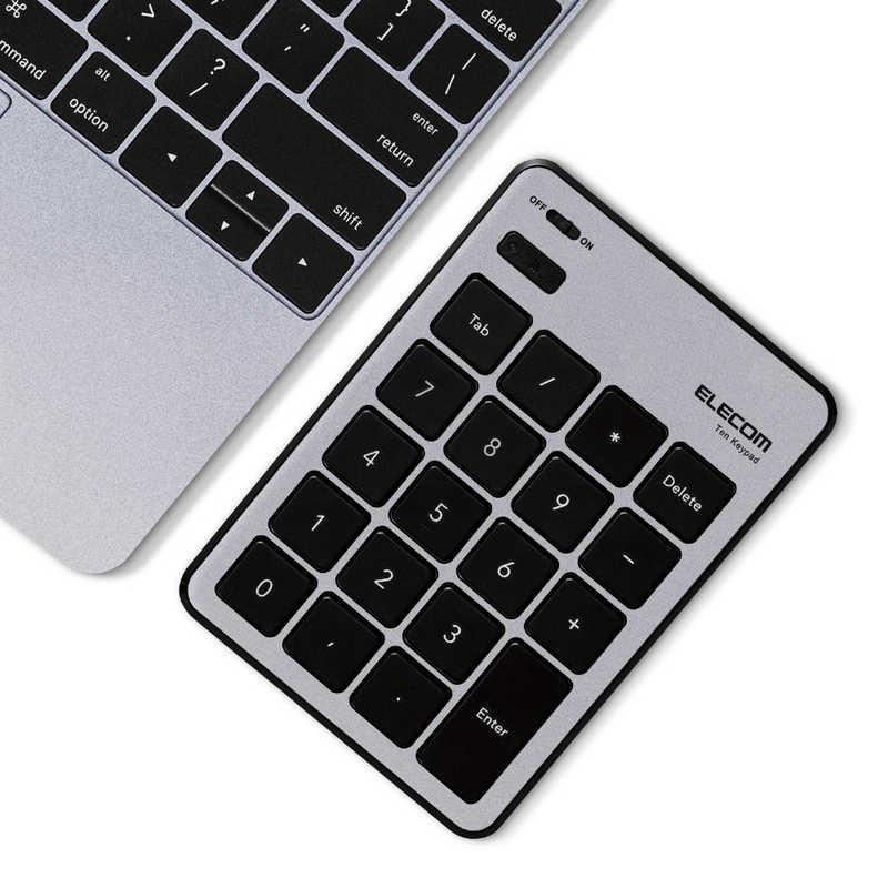 合計3 980円以上で送料無料 更に代引き手数料も無料 エレコム ELECOM Bluetoothテンキーボード MacOS対応 パンタグラフ 薄型 当店は最高な サービスを提供します 買い物 TK-TBPM01SV シルバー