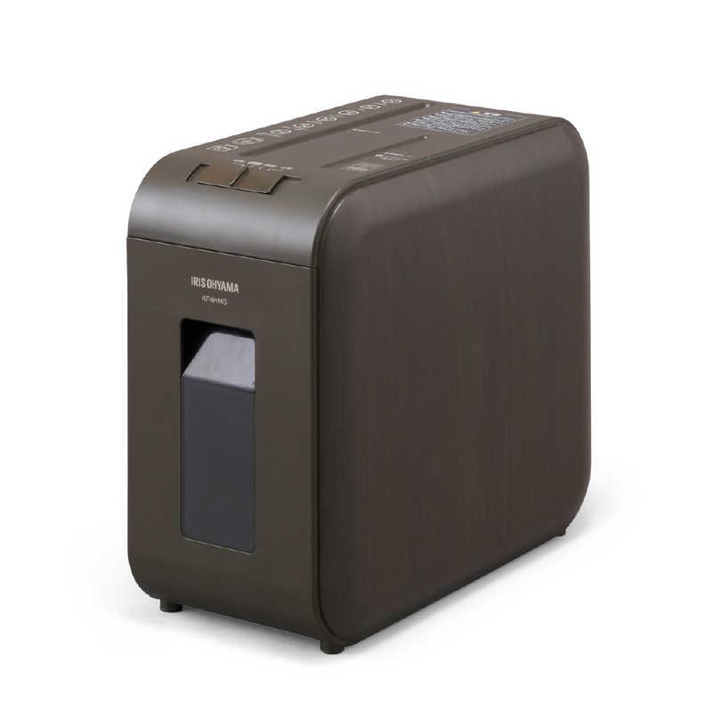 アイリスオーヤマ セール IRIS OHYAMA 超静音シュレッダー ブラウン A4サイズ KP4HMS-T マイクロクロスカット 新登場 CDカット対応