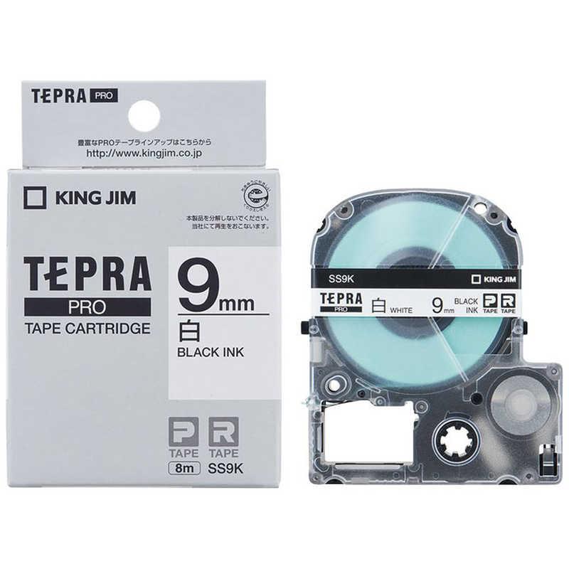 入手困難 合計3 980円以上で送料無料 更に代引き手数料も無料 キングジム テプラPROテープカートリッジ オリジナル 9mm 白ラベル 白 黒文字 SS9K