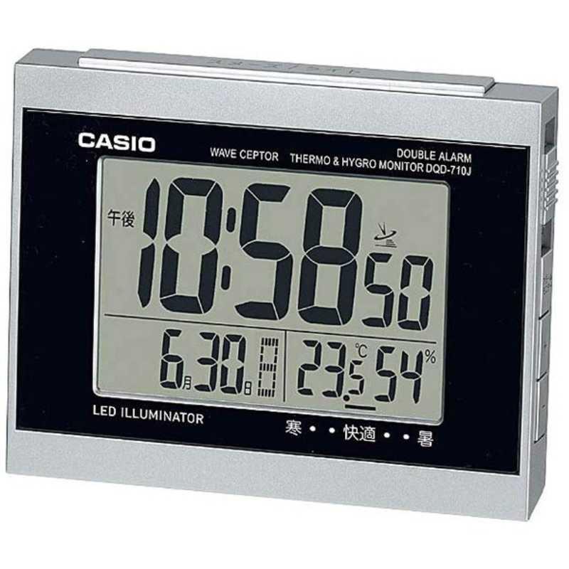 合計3,980円以上で送料無料!更に代引き手数料も無料。 カシオ CASIO 目覚まし時計 DQD‐710J‐8JF (シルバー)