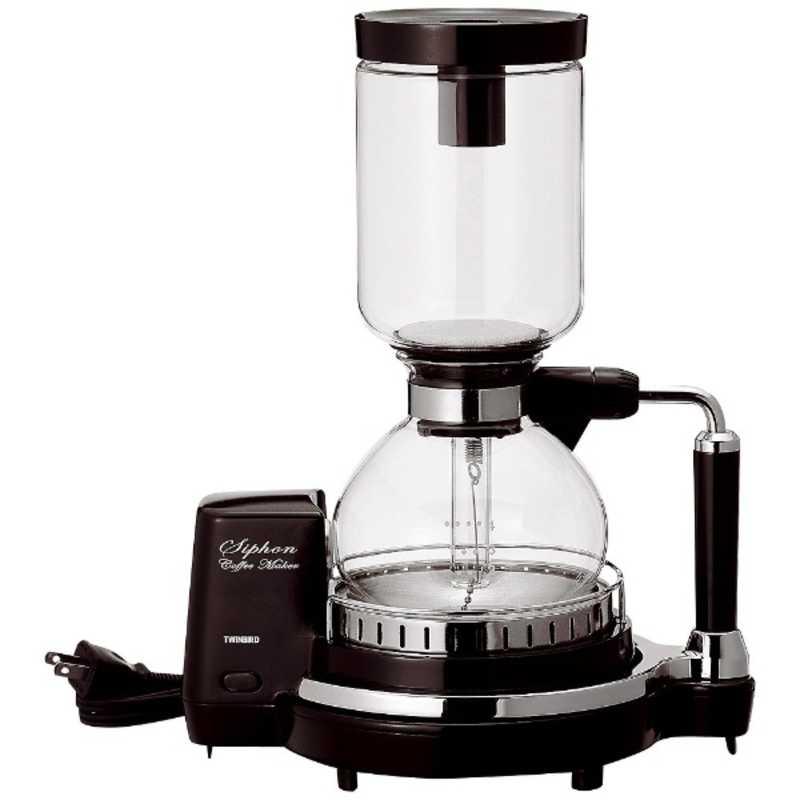 初回限定 ツインバード TWINBIRD サイフォン式コーヒーメーカー 4杯 ☆国内最安値に挑戦☆ ブラウン CM‐D854BR