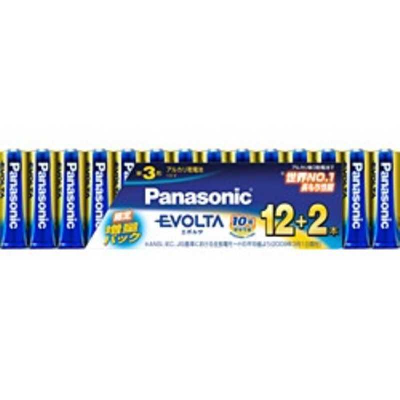 合計3,980円以上で送料無料!更に代引き手数料も無料。 パナソニック Panasonic 「単3形乾電池」 14本 アルカリ乾電池「エボルタ」 LR6EJSP14S