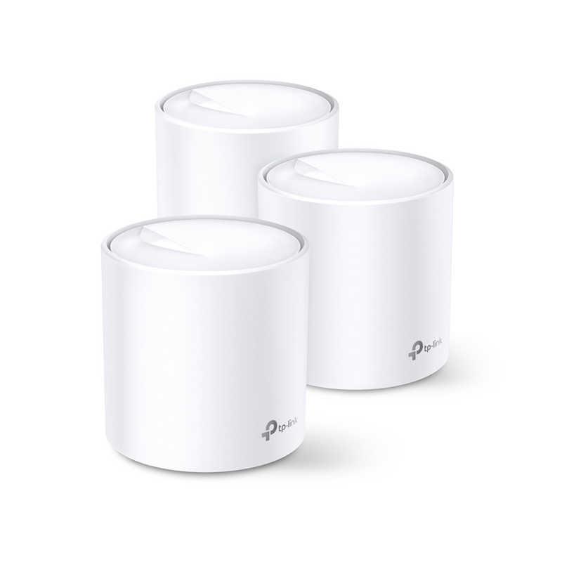 TPLINK AX1800 Wi-Fi 6メッシュWi-Fiシステム 3年保証 [Wi-Fi 6(ax)/ac/n/a/g/b] Deco X20 3P