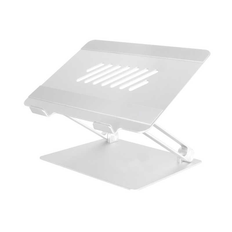 超激安特価 OWLTECH !超美品再入荷品質至上! ノートパソコン タブレットPCスタンド ~17インチ OWL-PCST01-SI シルバー 折り畳みアルミ
