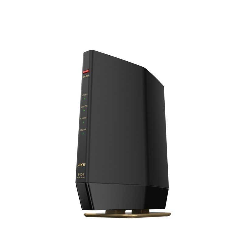 BUFFALO 無線LAN親機11ax 品質検査済 ac n a 国産品 g WSR-5400AX6S-MB マットブラック 4803+573Mbps b