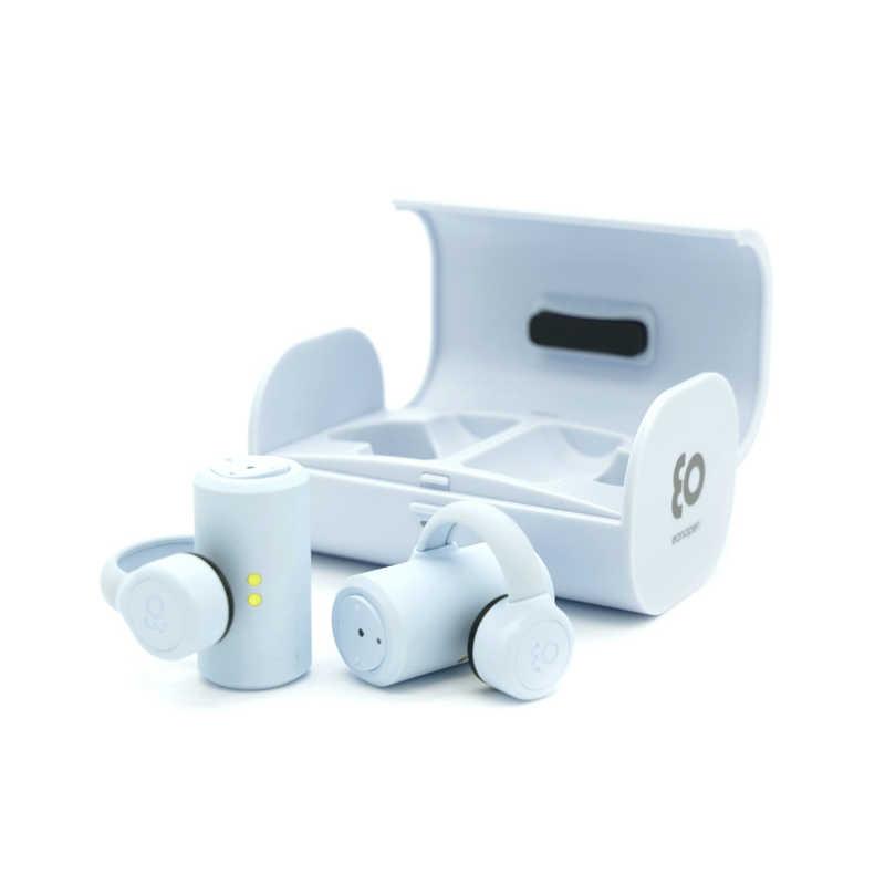 BOCO フルワイヤレス骨伝導イヤホン earsopen ライトブルー [リモコン・マイク対応/骨伝導/Bluetooth] PEACE-TW-1