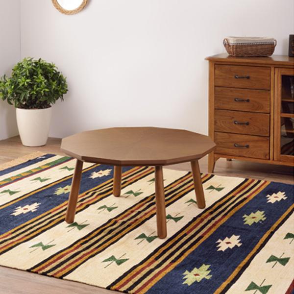 コタツテーブル 天然木 ブラウン 幅80センチ W80×D80×H39 KT-110