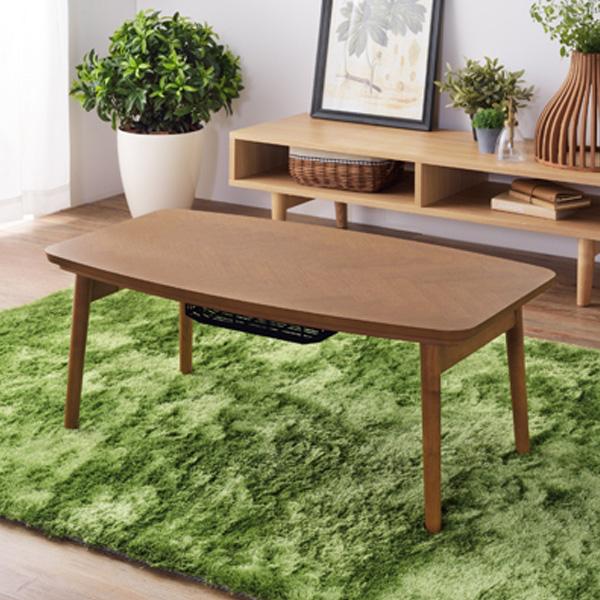 東谷 コタツテーブル 天然木 ブラウン 幅90センチ W90×D50×H36 KT-111