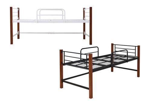 ベッド シングル ベット ベッドフレーム おしゃれ 安い 北欧 一人暮らし ミドルベッド パイプベッド ハイタイプ 頑丈 丈夫 床下収納スペース活用 スチール