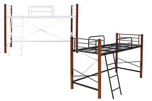 ロフトベッド シングル パイプベッド 頑丈 丈夫 ミドル ロー ハイタイプ ハイベッド 子供 大人用 システムベッド 一人暮らし スペース活用 スチール