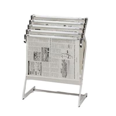 新聞スタンド 日本製 待合室 5本掛け 【 新聞ラック 】 送料無料 送料込 学割 プレミアム
