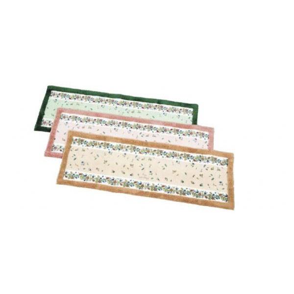 キッチンマット キッチン 台所 マット ラグ ラグマット カーペット おしゃれ ロング 幅広 長い絨毯 滑らない 滑り止め ずれない 50×200 花柄 北欧
