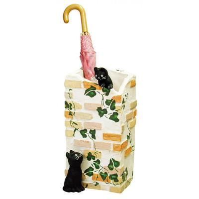 傘立て おしゃれ 北欧 業務用 スリム 省スペース 小さい アンティーク アニマル 動物 屋外 外 さすタイプ シンプル 猫 ねこ モダン 白
