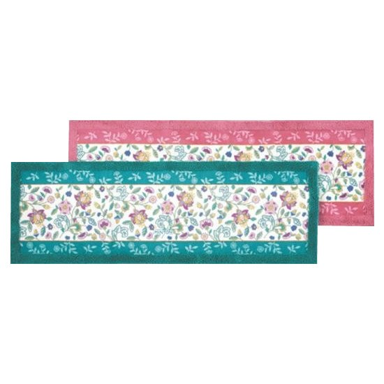 キッチンマット キッチン 台所 マット ラグ ラグマット カーペット おしゃれ ロング 幅広 長い絨毯 滑らない 滑り止め ずれない 50×250 花柄 北欧