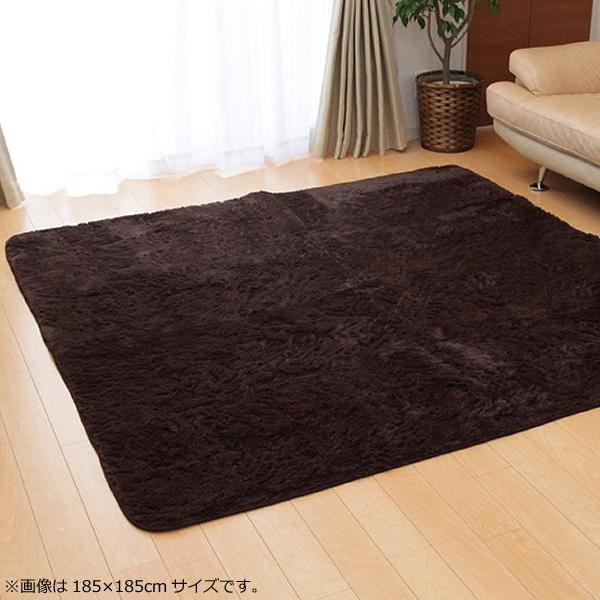 ファーラグマット ファー フェイク ムートンラグ ラグ ラグマット カーペット マット 厚手 おしゃれ 北欧 安い 床暖房 床暖房対応 200×300 6畳 ブラウン