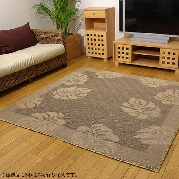 ラグ カーペット おしゃれ ラグマット 絨毯 花柄 ダイニングラグ マット 厚手 極厚 北欧 安い ふかふか ふわふわ 江戸間 3畳 174×261 ブラウン