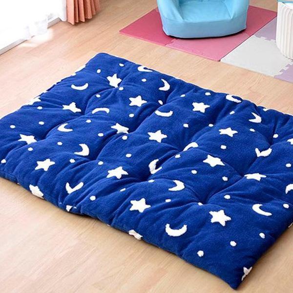 ラグ カーペット おしゃれ ラグマット 絨毯 子供部屋 キッズ ダイニングラグ マット 厚手 極厚 北欧 安い ふかふか ふわふわ 100×140 2畳 ブルー