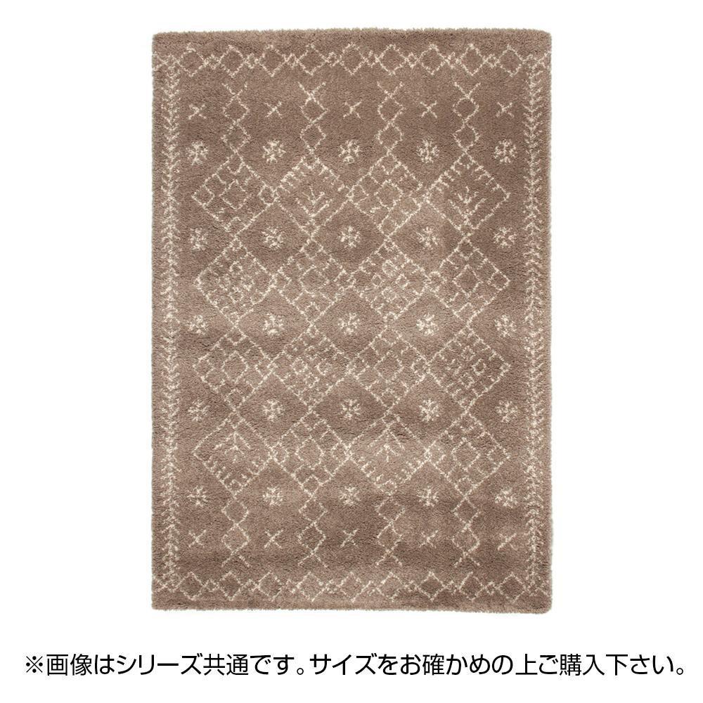 ラグ カーペット おしゃれ ラグマット 絨毯 ペルシャ ダイニングラグ マット 厚手 極厚 北欧 安い ふかふか ウィルトン織ラグ 135×190 2畳 ブラウン