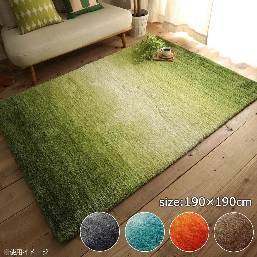 ラグ ラグマット ダイニングラグ マット 絨毯 カーペット じゅうたん 厚手 おしゃれ 北欧 安い 床暖房 床暖房対応 ホットカーペット対応 190×190 3畳