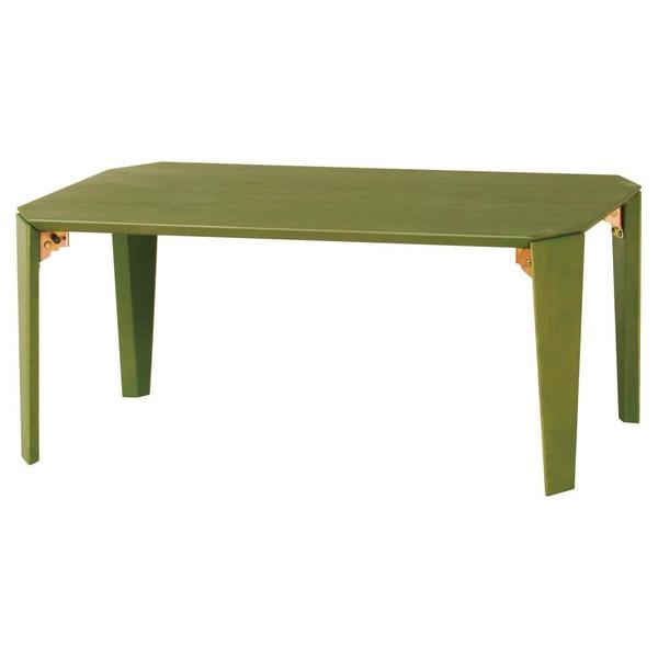 デスク ローテーブル 応接テーブル おしゃれ センターテーブル コーヒーテーブル リビングテーブル 北欧 グリーン ローテーブル(折りたたみ) 折りたたみ 木製 机