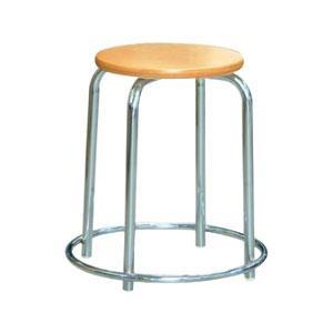 パイプ椅子 スタッキングチェア オフィスチェア 会議用チェア 会議椅子 チェア イス いす スツール 事務椅子 椅子 パソコンチェア デスクチェア pc 丸 足置き ナチュラル/シルバー