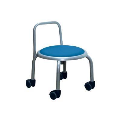 低い 椅子 ローチェア 半額 作業椅子 キャスター付き 休日 ガーデニング ブルー シルバー ローキャスターチェア 背もたれ オフィスチェア キッチン