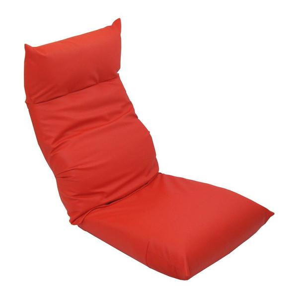 座椅子 リクライニングチェア 低い 椅子 一人暮らし コンパクト ローチェア こたつ おしゃれ 1人掛け 一人掛け ヘッドレスト レザー レッド