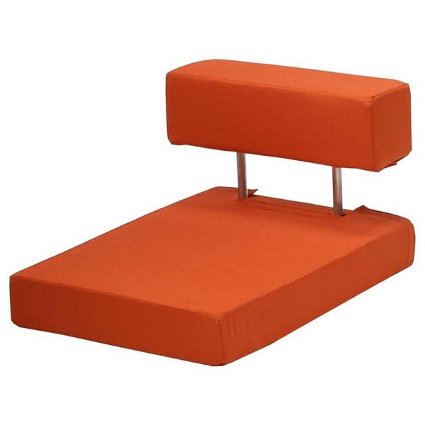 座椅子 座布団 低い 椅子 座イス 座いす 一人暮らし コンパクト ロー こたつ おしゃれ 1人掛け 一人掛け フロアチェア 柿色