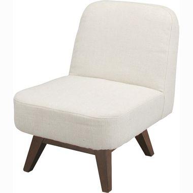 ソファー 1人掛け 回転 ダイニングチェア 1P ベージュ ( ソファ アームチェア 座椅子 ローソファ 一人掛け 1Pソファー ) 低い