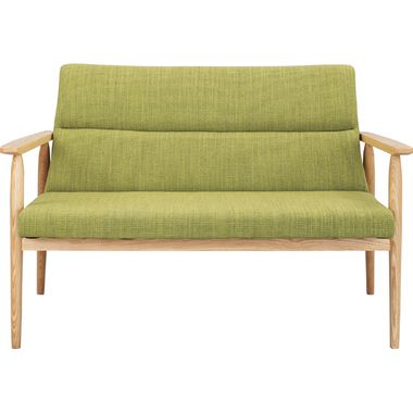 ソファー 2人掛け ダイニングベンチ 2P 1.5P グリーン 緑 ( アームチェア ローソファ カウチ ニ人掛け 1.5人 ) 低い