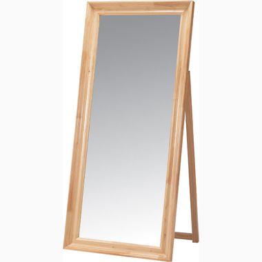 スタンドミラー ワイド 幅広 ナチュラル 【全身鏡 姿見 鏡 ミラー スタンドミラー 壁掛け 木製 スチール 鏡面 フレーム 飛散防止 吊鏡 全身 送料無料 ポイント】