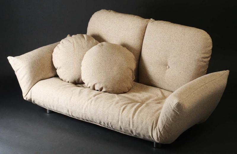 ソファー 3人掛け 2.5人掛け フロアソファ ローソファ ロータイプ ブラウン 茶色 ソファ アームチェア 座椅子 応接 布 革 合皮 三人掛け 3P 2 低い
