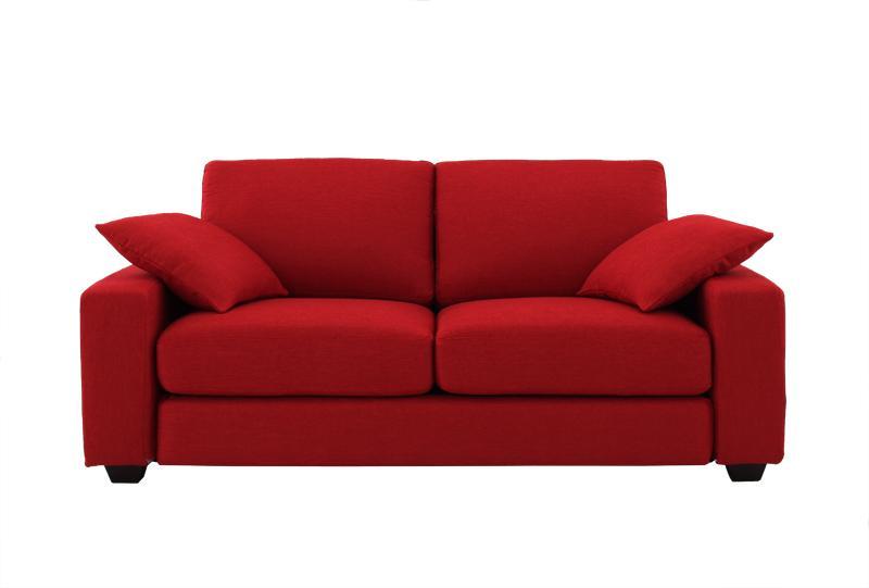 ソファー ソファ 2.5人掛け おしゃれ 布 ファブリック 北欧 カフェ リビング 座椅子 ローソファ カバー付き  ( ワイド 2.5P Hピンク ナチュラル )