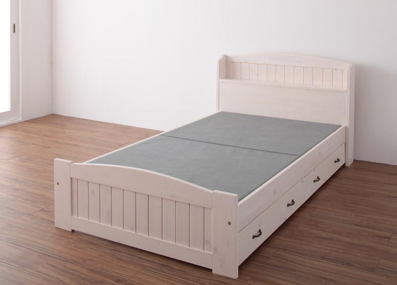 ベッド 安い シングル シングルベッド シングルサイズ コンセント付き 収納付き ( フレームのみ )